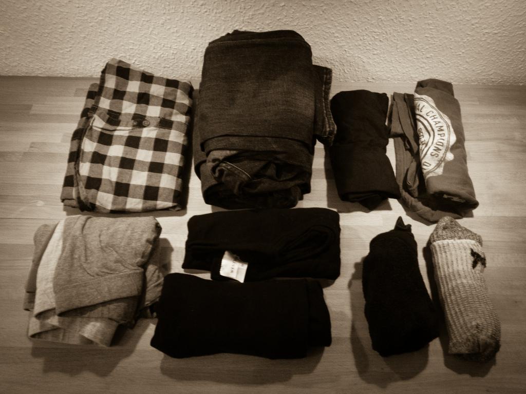 Packliste Kleidung (Basics)