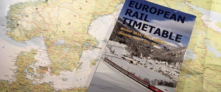 Planung einer Interrail-Reise durch Nordeuropa – oder: Wer die Wahl hat, …