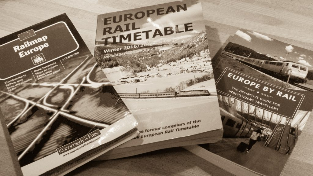 Railmap Europe, European Rail Timetable und Europe by Rail