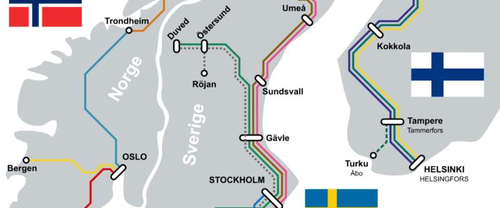 Nachtzüge in Norwegen, Schweden und Finnland