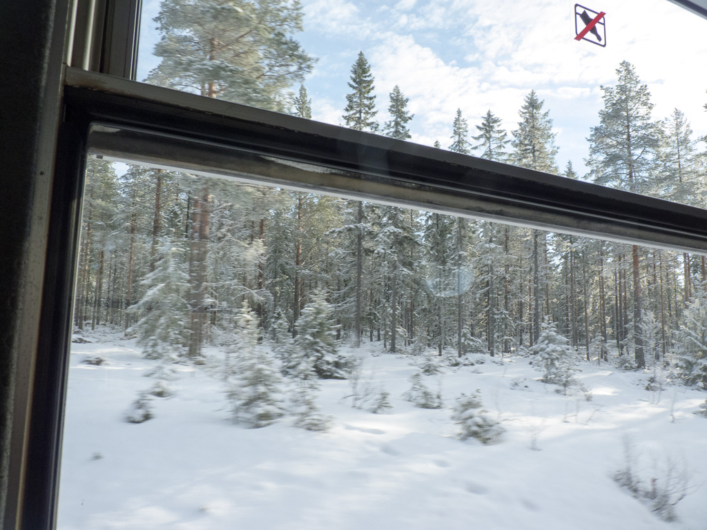 Tag 13: Mit der Inlandsbahn im Winterparadies