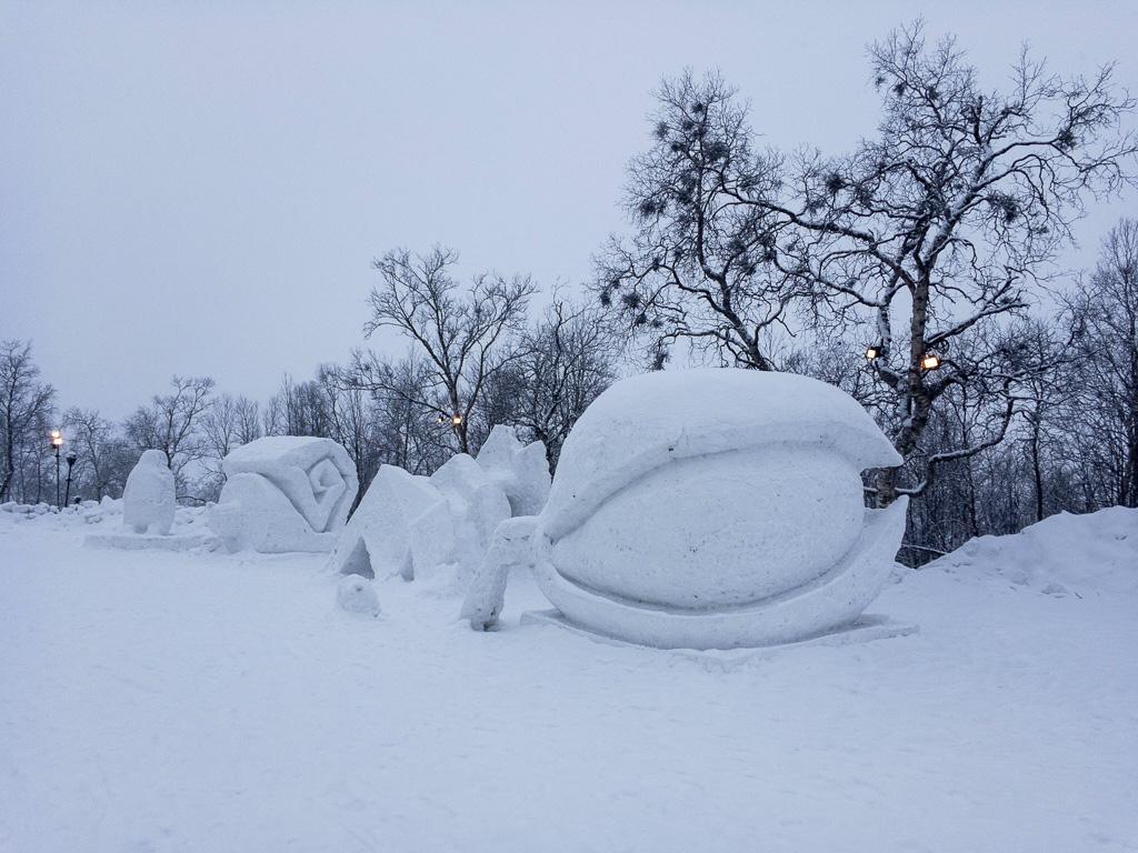 Tag 21: Impressionen aus dem Zentrum von Kiruna