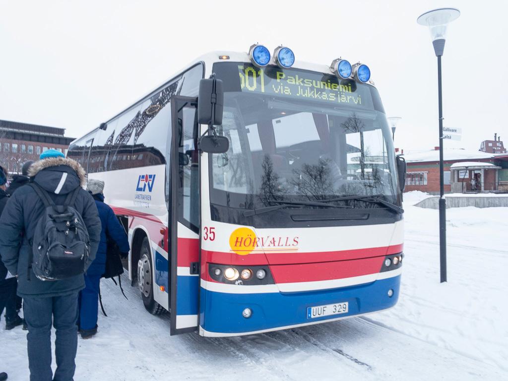 Tag 22: Mit dem Bus nach Jukkasjärvi