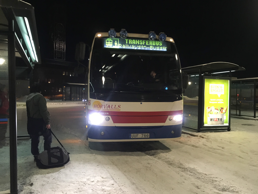 Tag 23: Abfahrt aus Kiruna am frühen Morgen