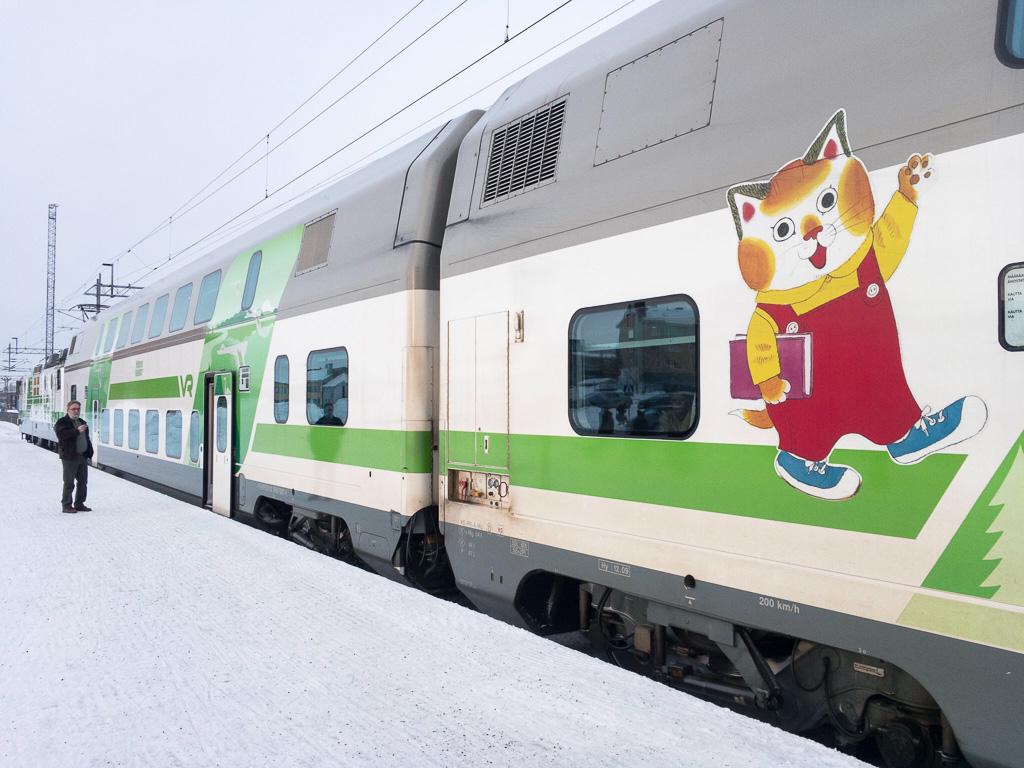 Tag 23: Unterwegs im finnischen Zug