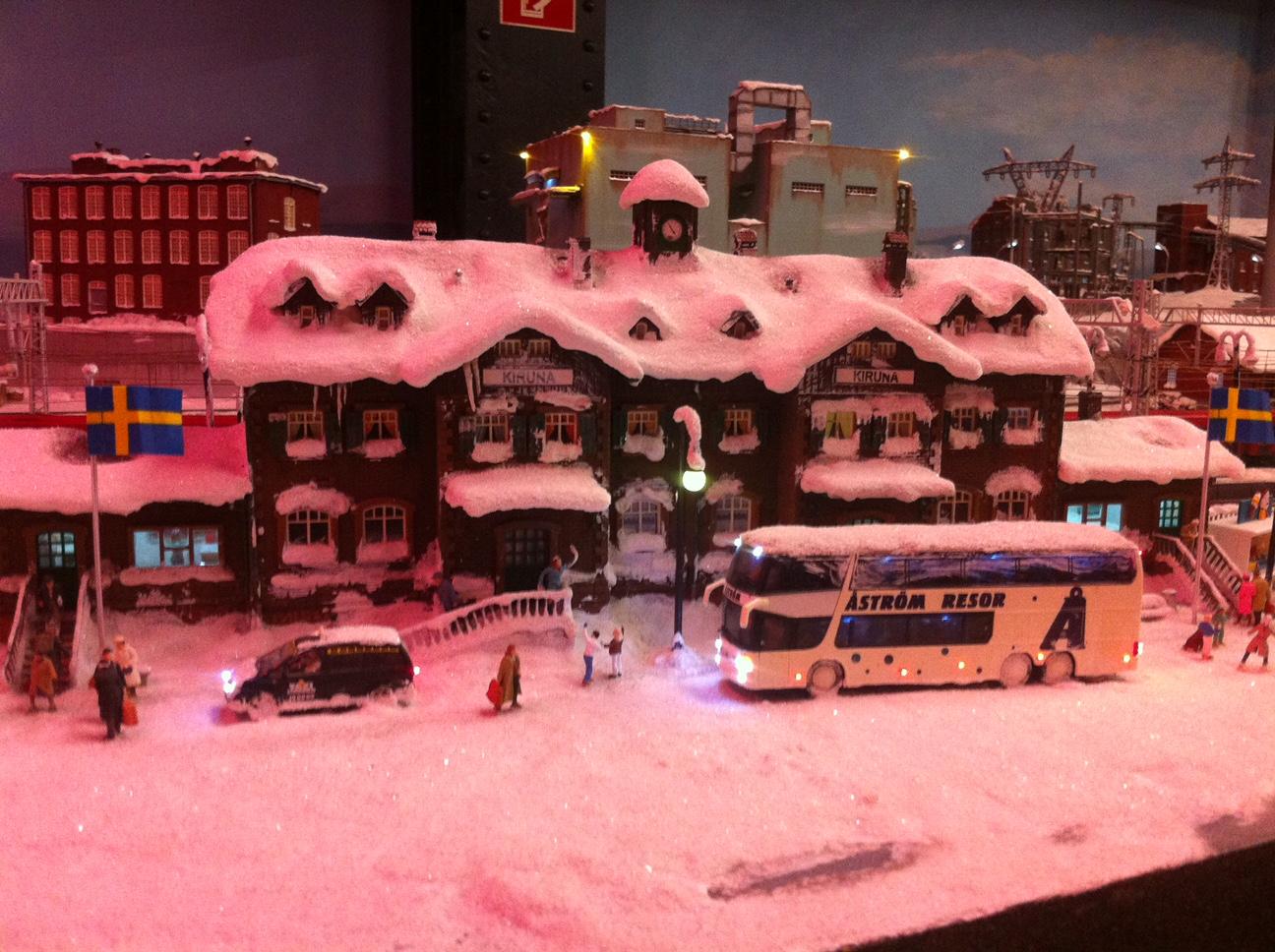 Bahnhof Kiruna im Miniaturwunderland
