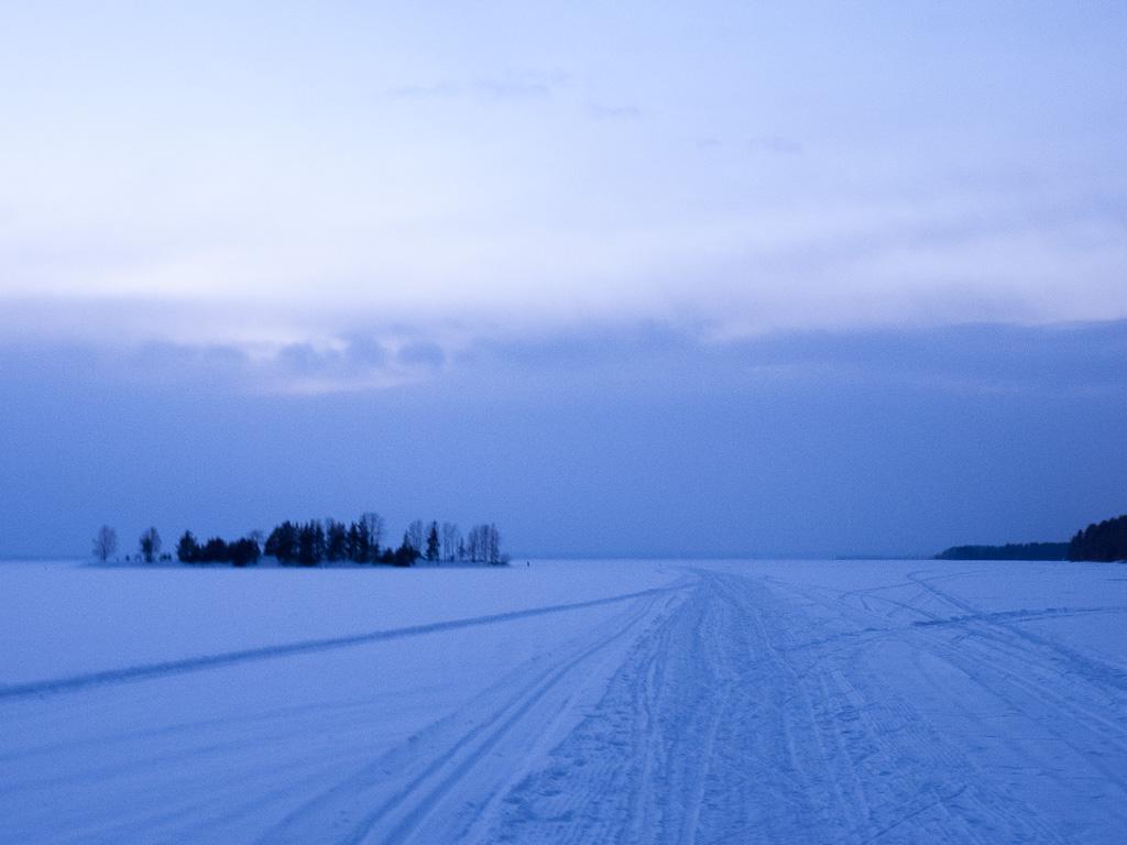 Tag 34: Abend auf dem Pyhäselkä-See