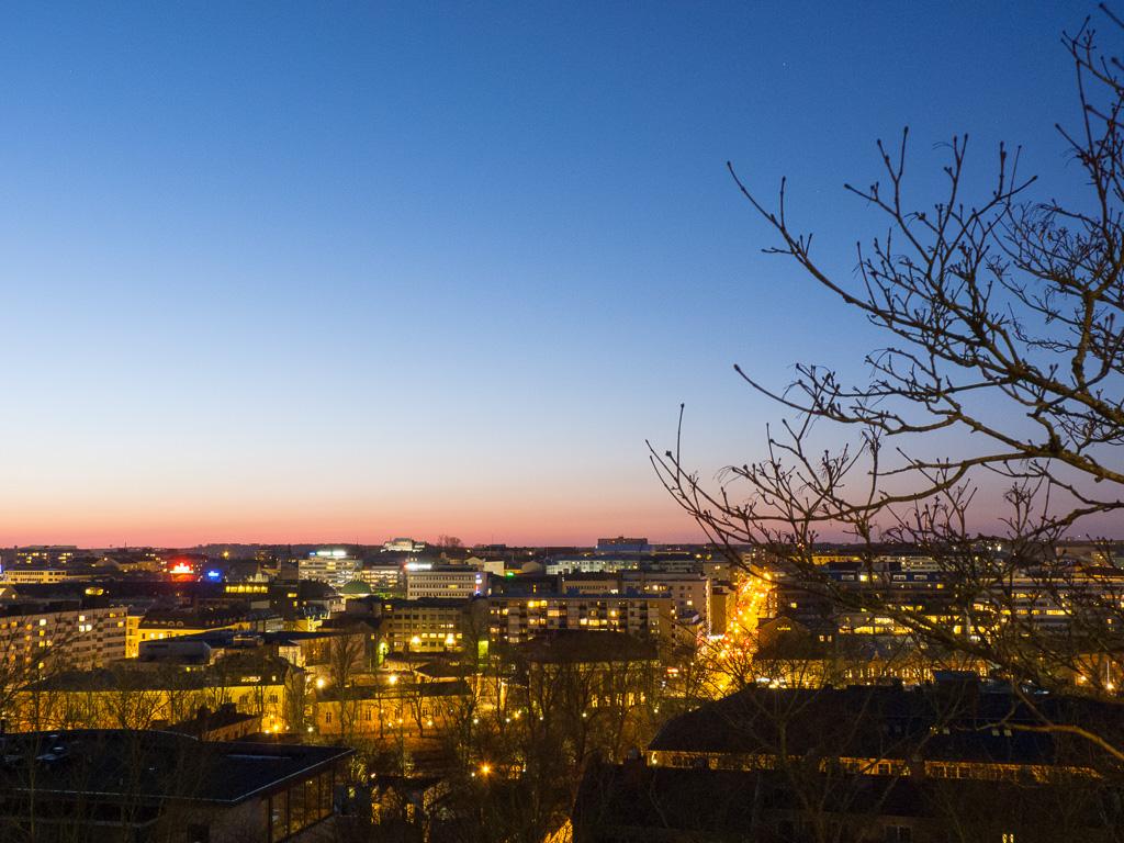 Tag 35: Nächtliches Turku von oben