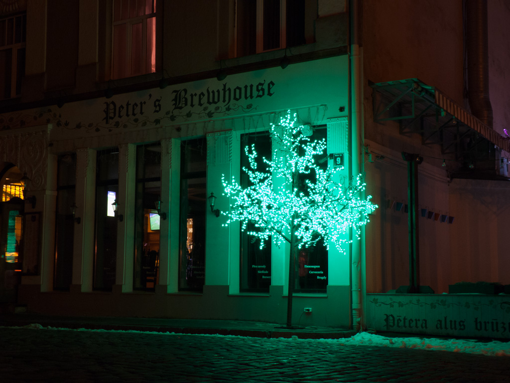 Tag 39: Tag 39: Riga bei Nacht – Altstadtszenen II