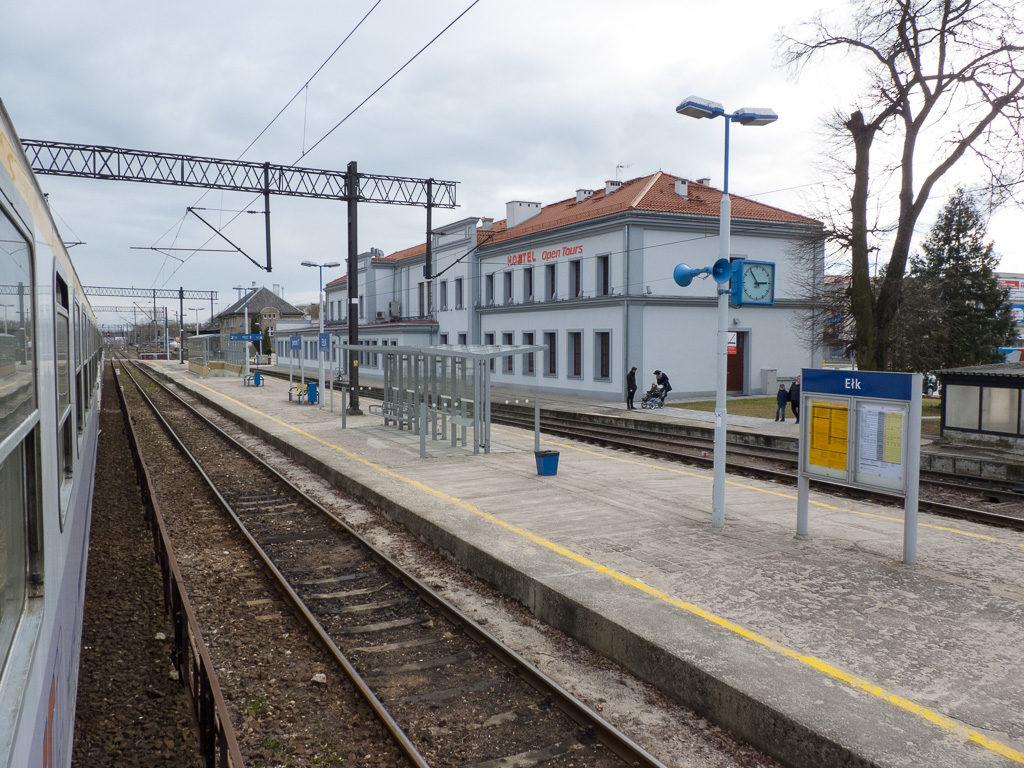 Bahnhof von Ełk