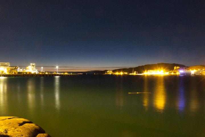 Der Hafen von Bodø am Abend