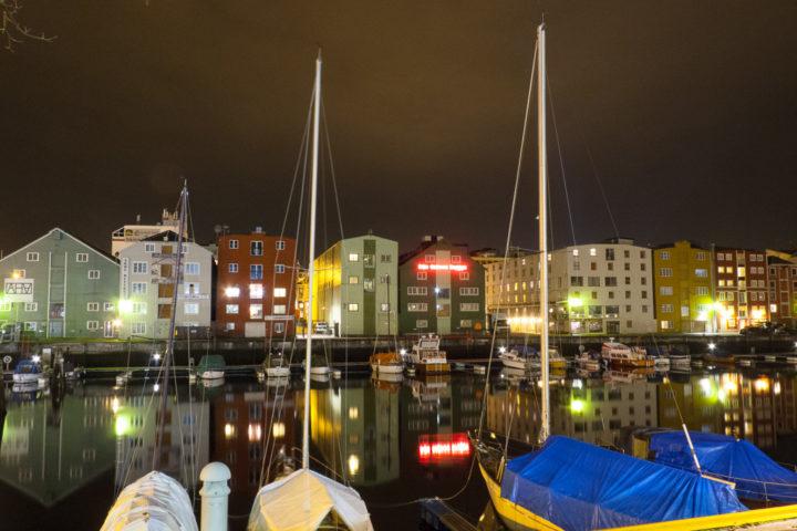 Trondheim Nidelva Lagerhäuser Hafen