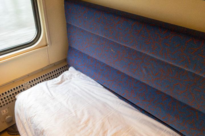 Nachtzug Bett im Schlafwagenabteil