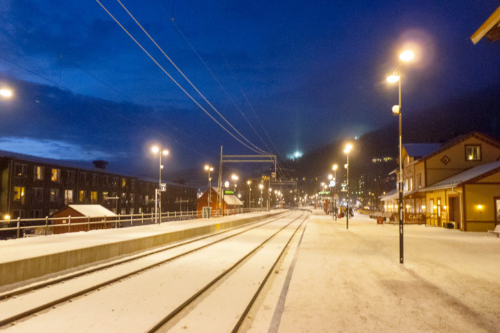 Åre Bahnhof Blaue Stunde