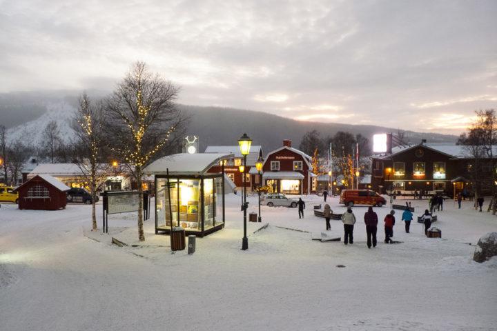 Åre Zentrum am Abend