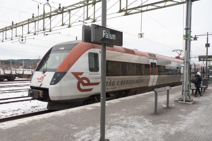 Tåg i Bergslagen Falun Bahnhof