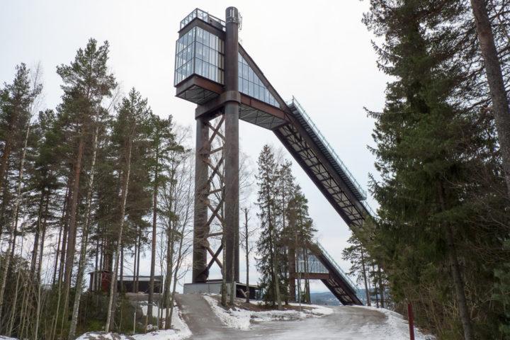 Turm Lugnet-Skisprungschanze Falun