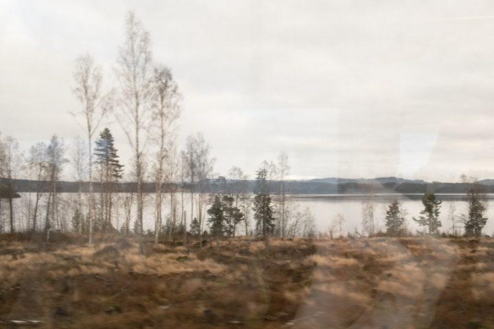 Unterwegs auf der Fryksdalsbanan am Fryken-See