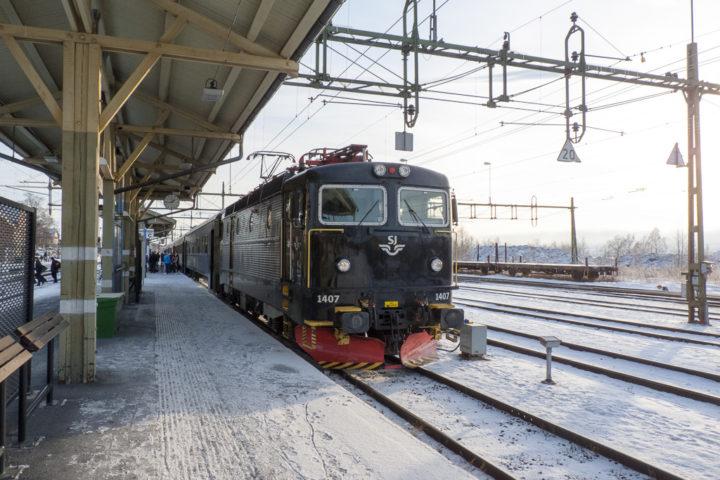 Bahnhof Östersund Bahnsteig
